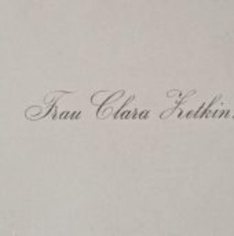 Carte De Visite Clara Zetkin Traces Crites Lettres