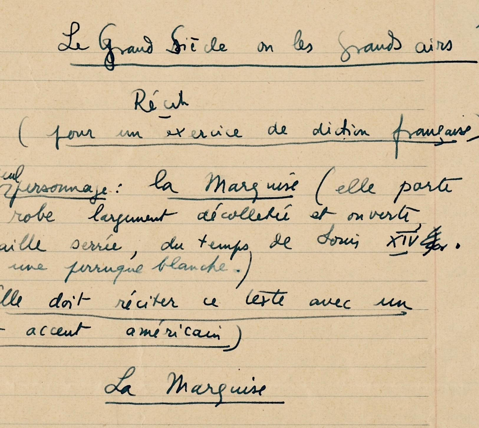 Les Exercices De Diction D Eugene Ionesco Traces Ecrites Lettres Autographes Manuscrits Anciens Et Archives Du Moyen Age A Nos Jours